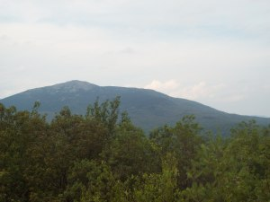Mount Monadnock as seen from Gap Mountain's North Summit.